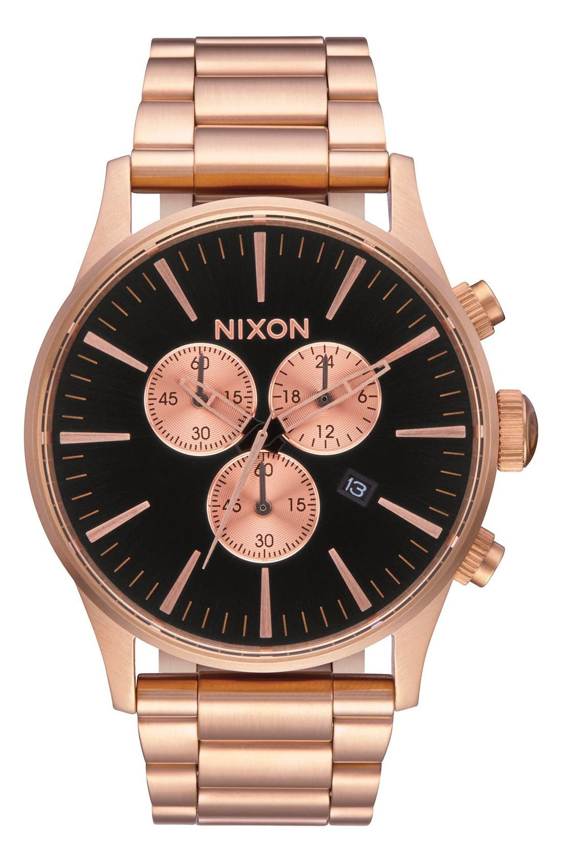 Main Image - Nixon The Sentry Chronograph Bracelet Watch, 42mm