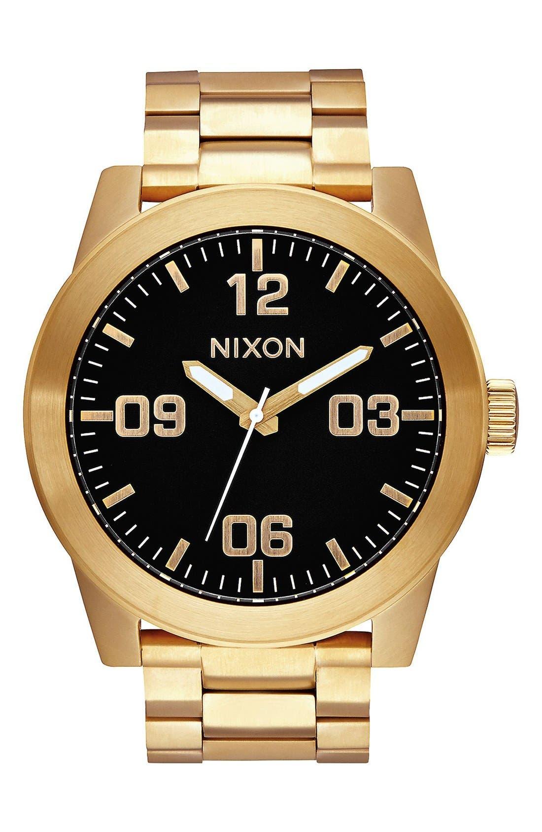 'The Corporal' Bracelet Watch, 48mm,                         Main,                         color, Gold/ Black