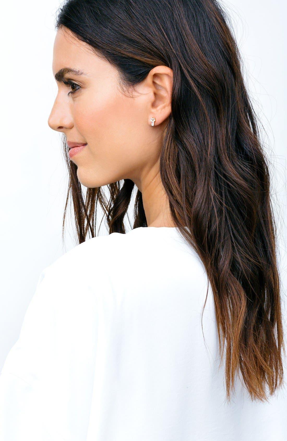 Alternate Image 2  - gorjana Amara Cubic Zirconia Stud Earrings
