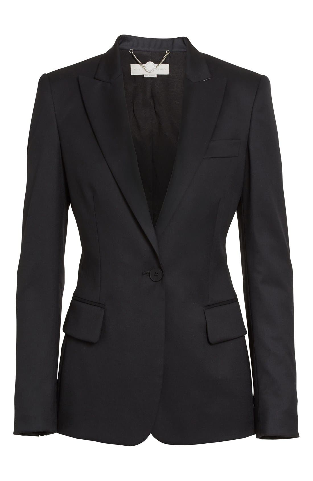 Alternate Image 4  - Stella McCartney PS1 One-Button Wool Jacket (Nordstrom Exclusive)