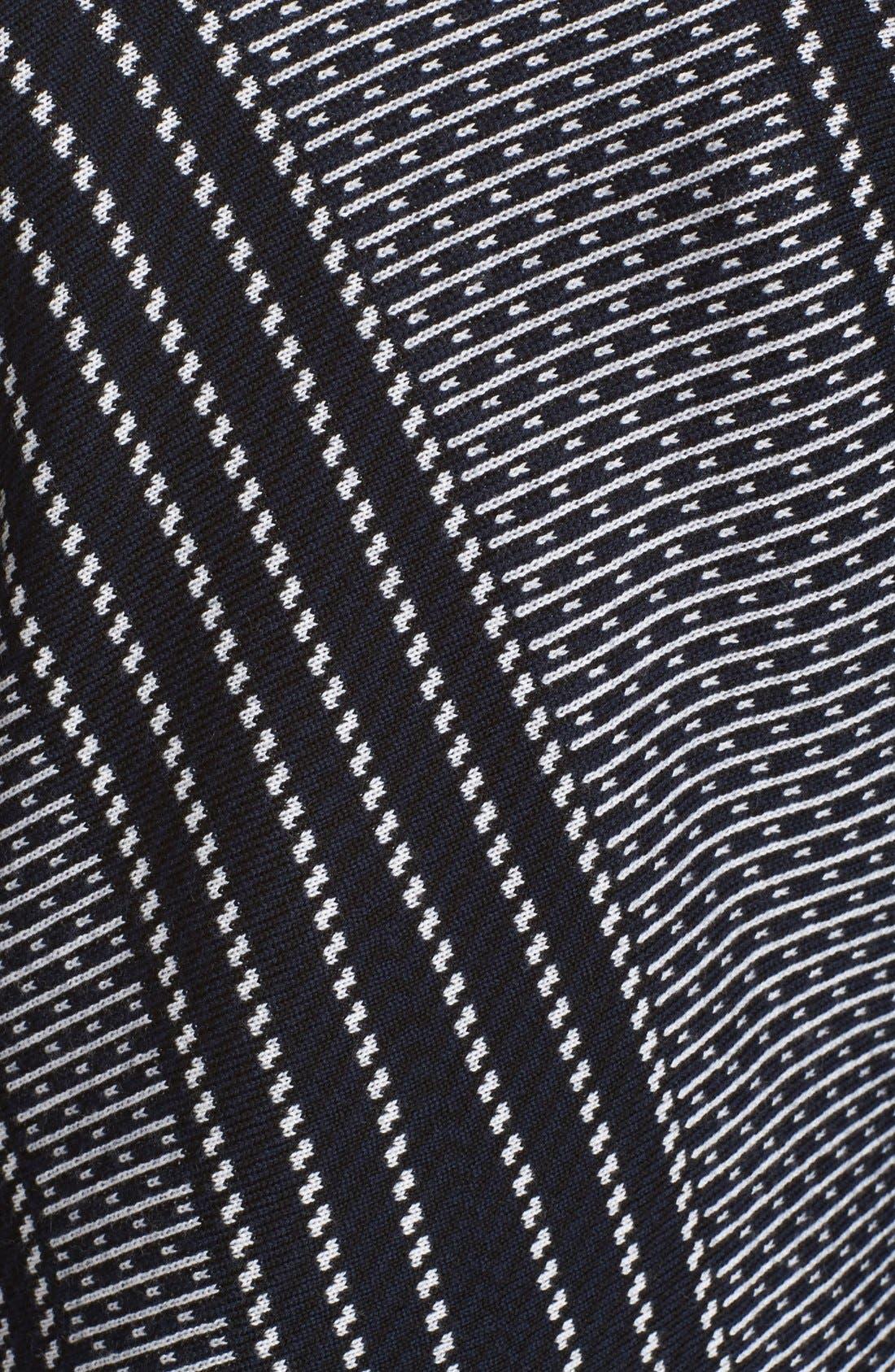 Draped Jacquard & Chenille Sweater,                             Alternate thumbnail 5, color,                             Sapphire