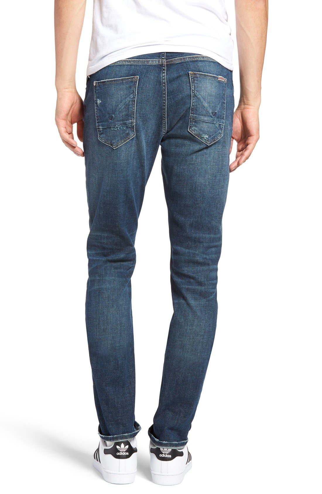 Alternate Image 2  - Hudson Jeans Sartor Slouchy Skinny Fit Jeans (Deserter)