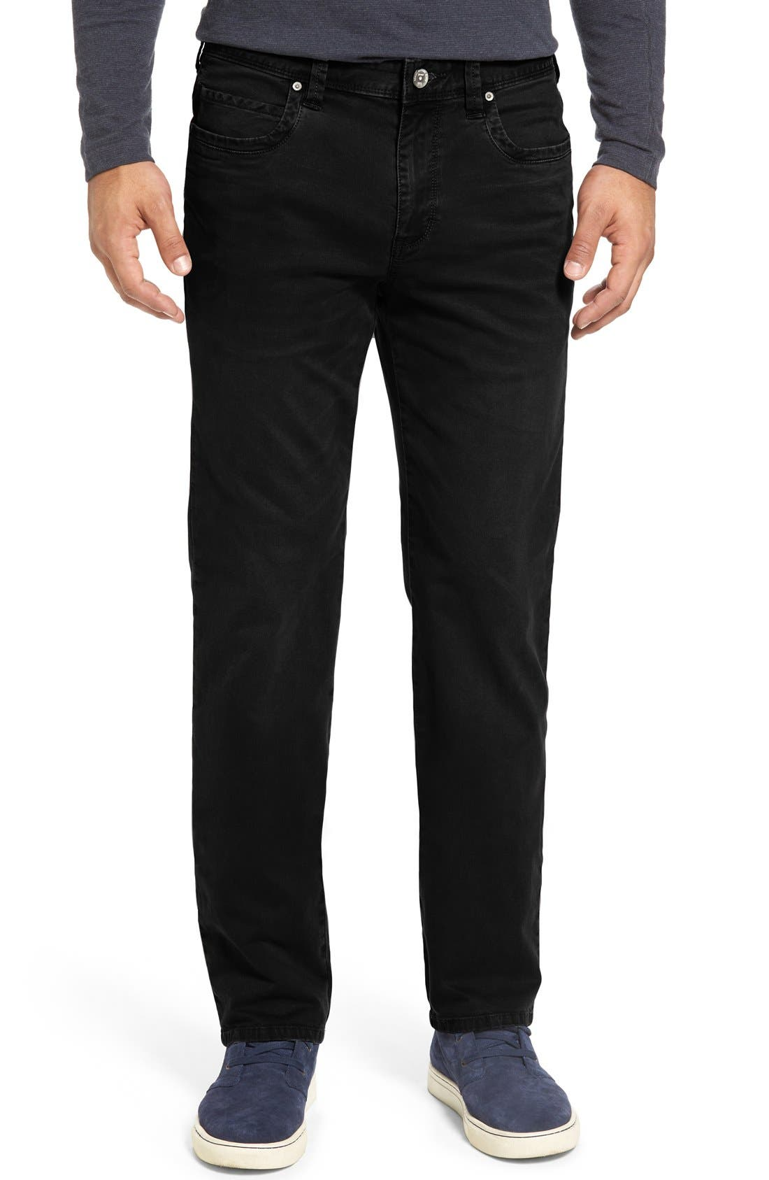 'Santiago' Washed Twill Pants,                         Main,                         color, Black