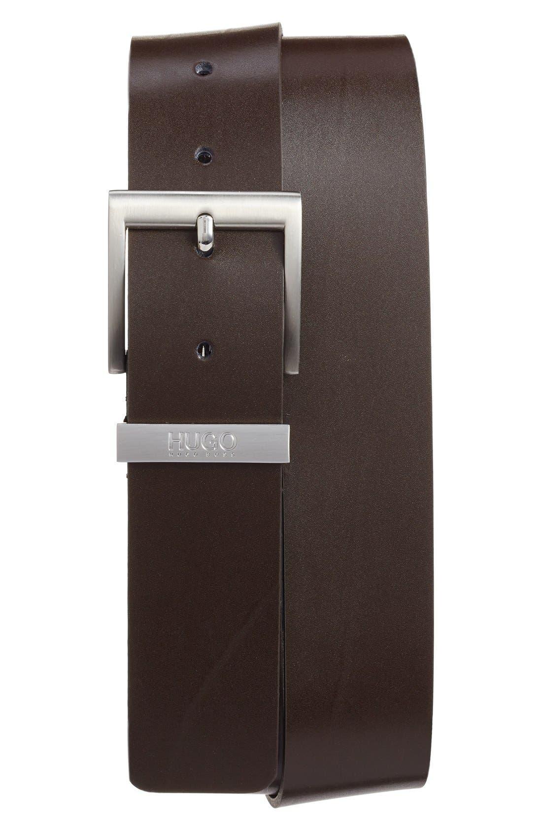 Alternate Image 1 Selected - BOSS Leather Belt