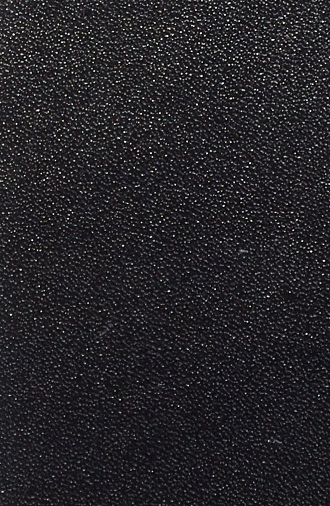 Matte Leather Belt,                             Alternate thumbnail 2, color,                             Black Black