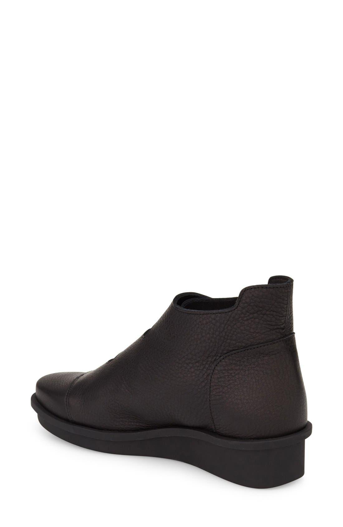'Skapa' Sneaker,                             Alternate thumbnail 2, color,                             Noir Leather
