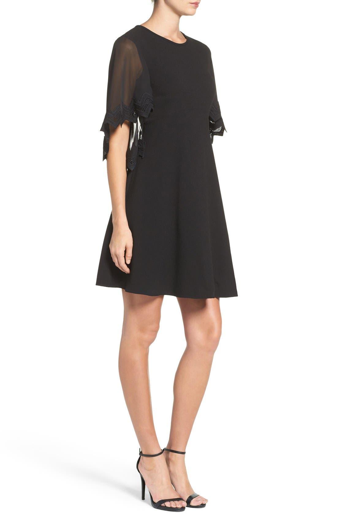 Alternate Image 3  - Taylor Dresses Chiffon Caplet Dress