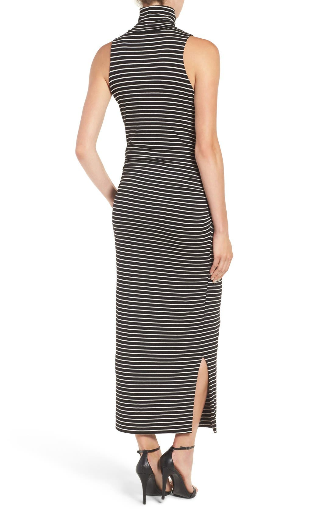 Turtleneck Maxi Dress,                             Alternate thumbnail 2, color,                             Amsterdam Stripe