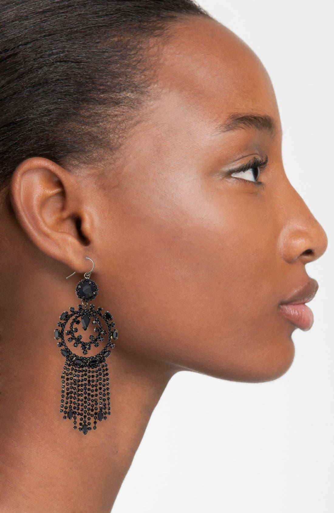 Alternate Image 2  - Cristabelle Circle Fringe Drop Earrings