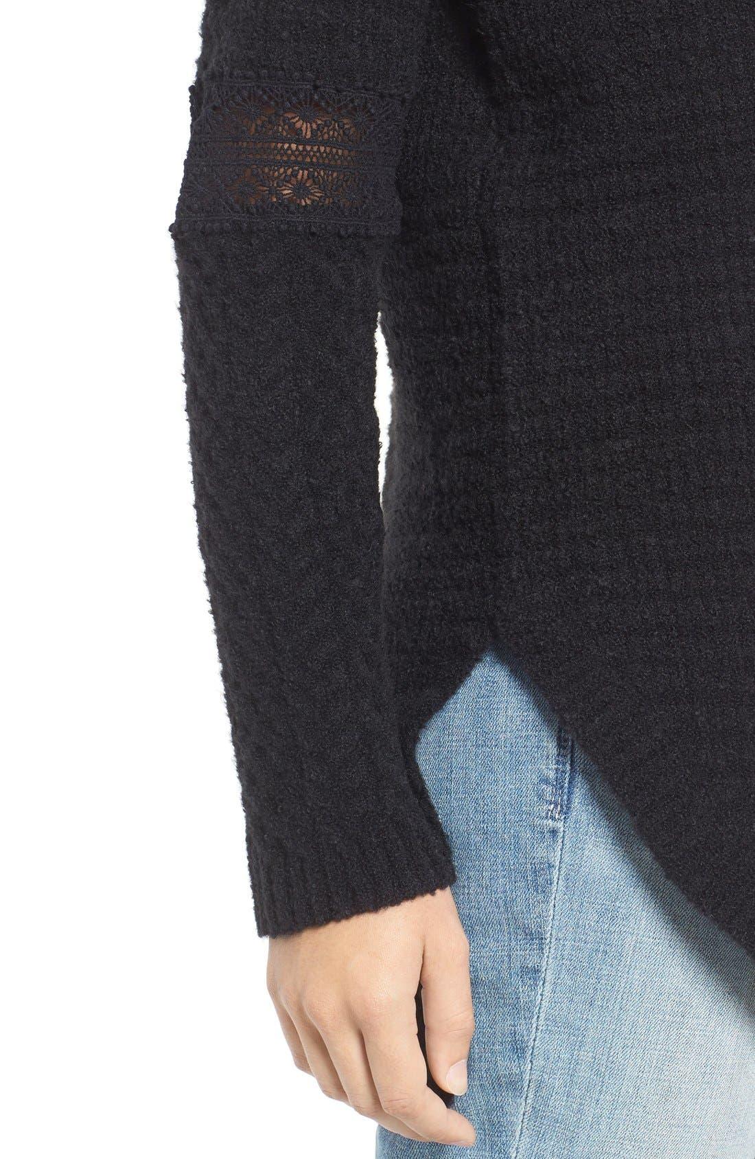 Alternate Image 4  - Hinge Lace Inset V-Neck Sweater