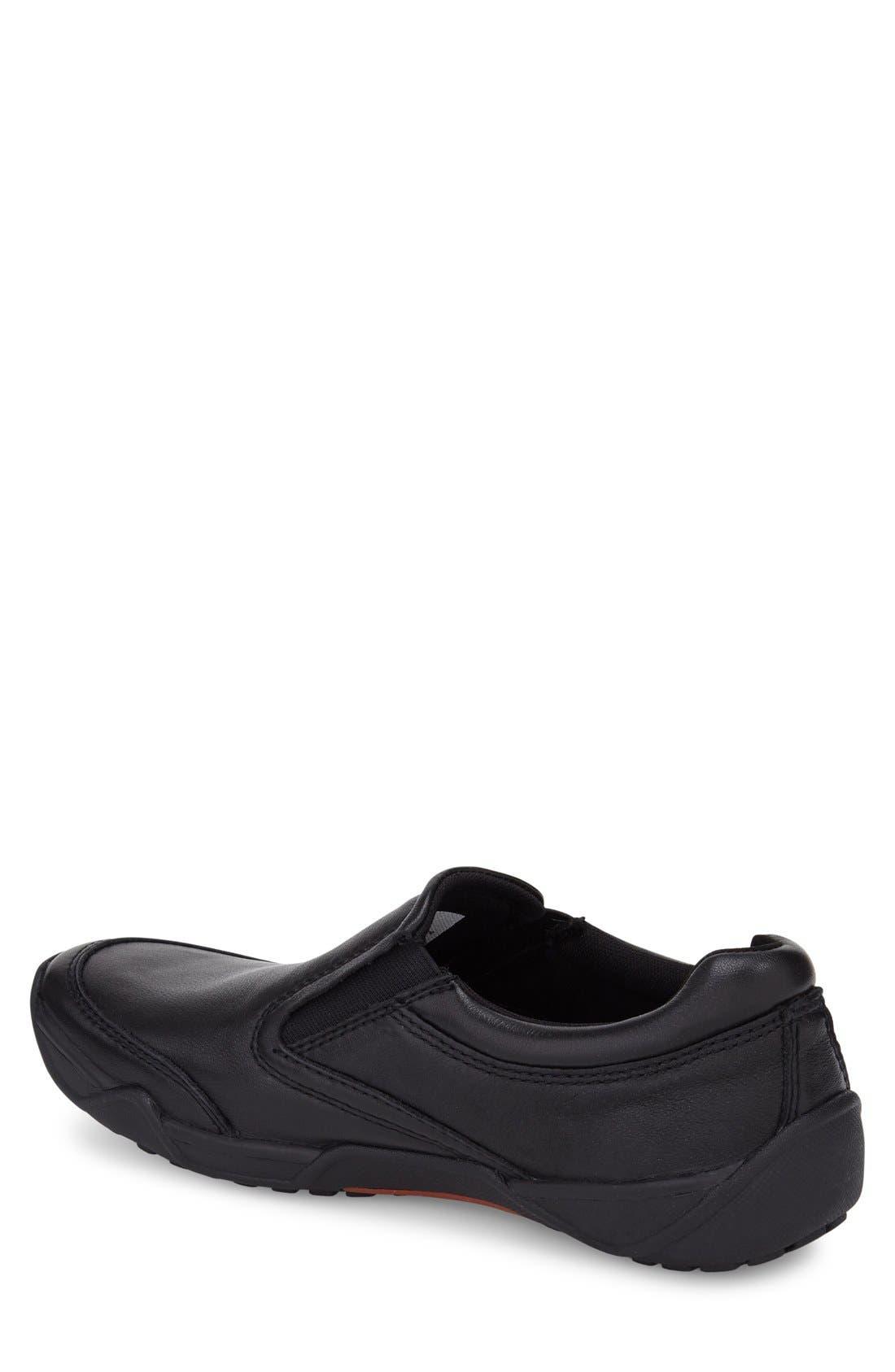 Tempur-Pedi Jacobi Slip-On,                             Alternate thumbnail 2, color,                             Black Leather