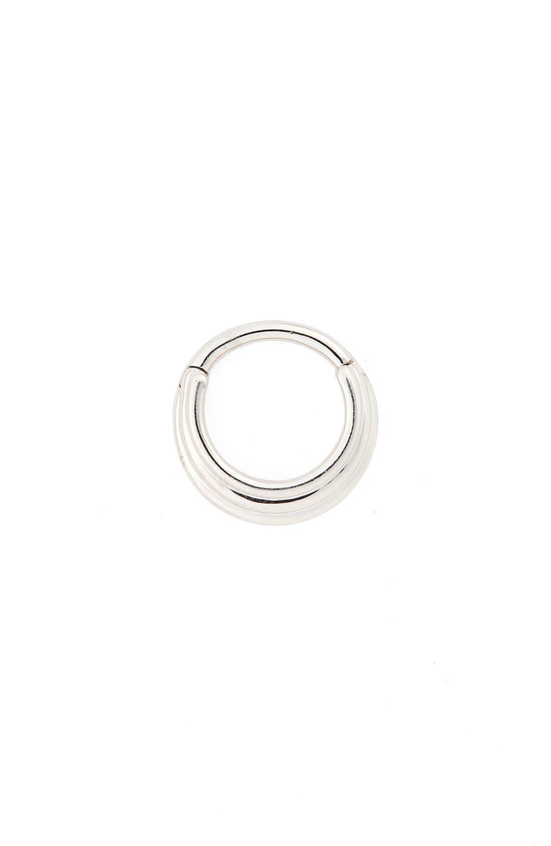 16 Gauge Hiranya Clicker Ring,                             Main thumbnail 1, color,                             White