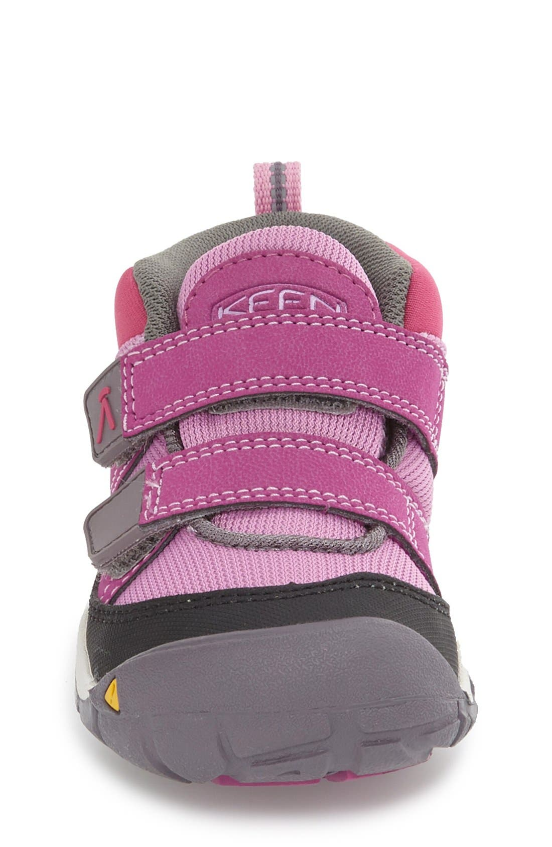 Peek-a-Shoe Sneaker,                             Alternate thumbnail 3, color,                             Purple Wine