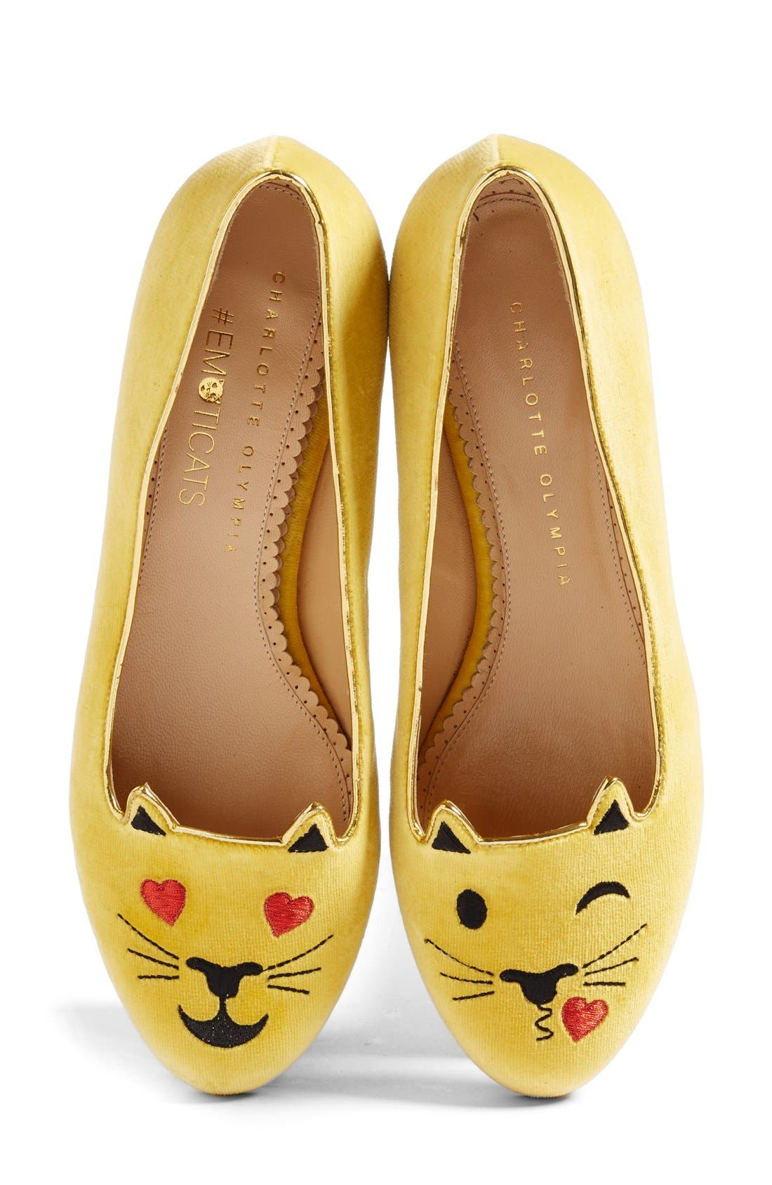 Alternate Image 1 Selected - Charlotte Olympia LOL Kitty Flat (Women)