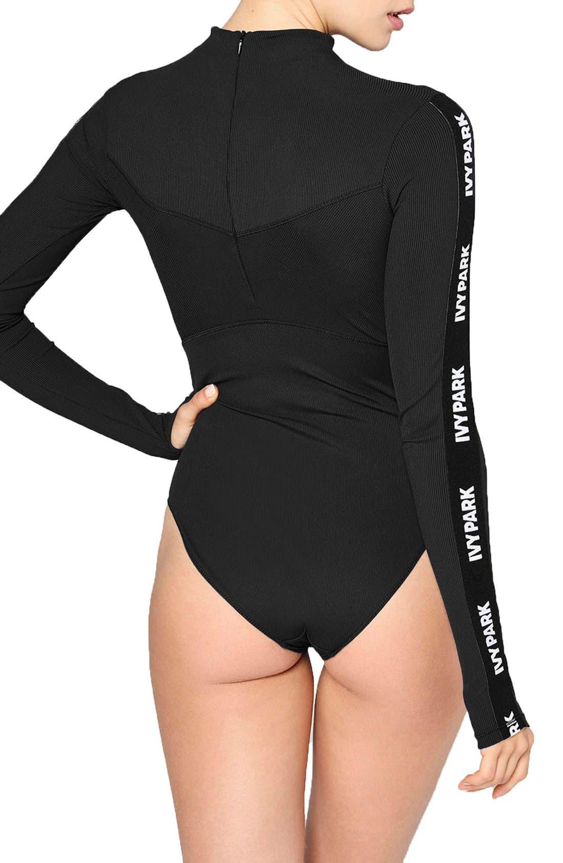 Alternate Image 3  - IVY PARK® Elastic Logo Sleeve Bodysuit