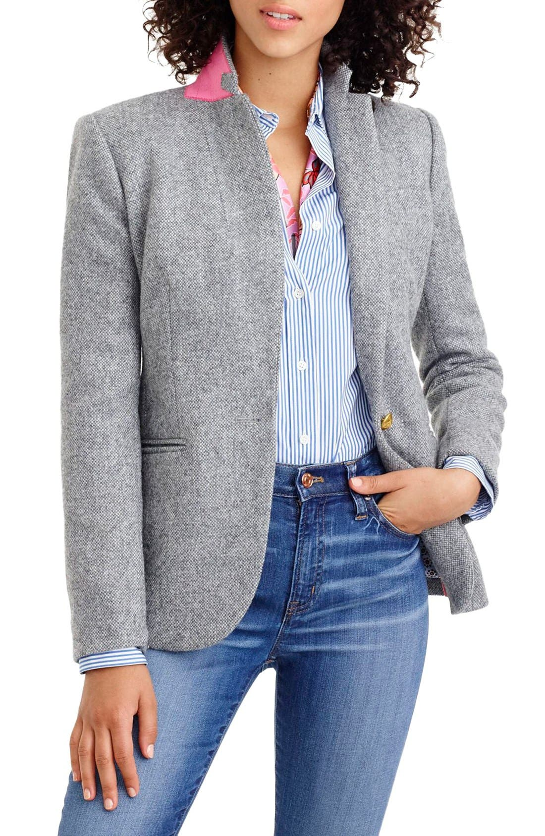 Main Image - J.Crew Collection Campbell Donegal Wool Blazer (Regular & Petite)