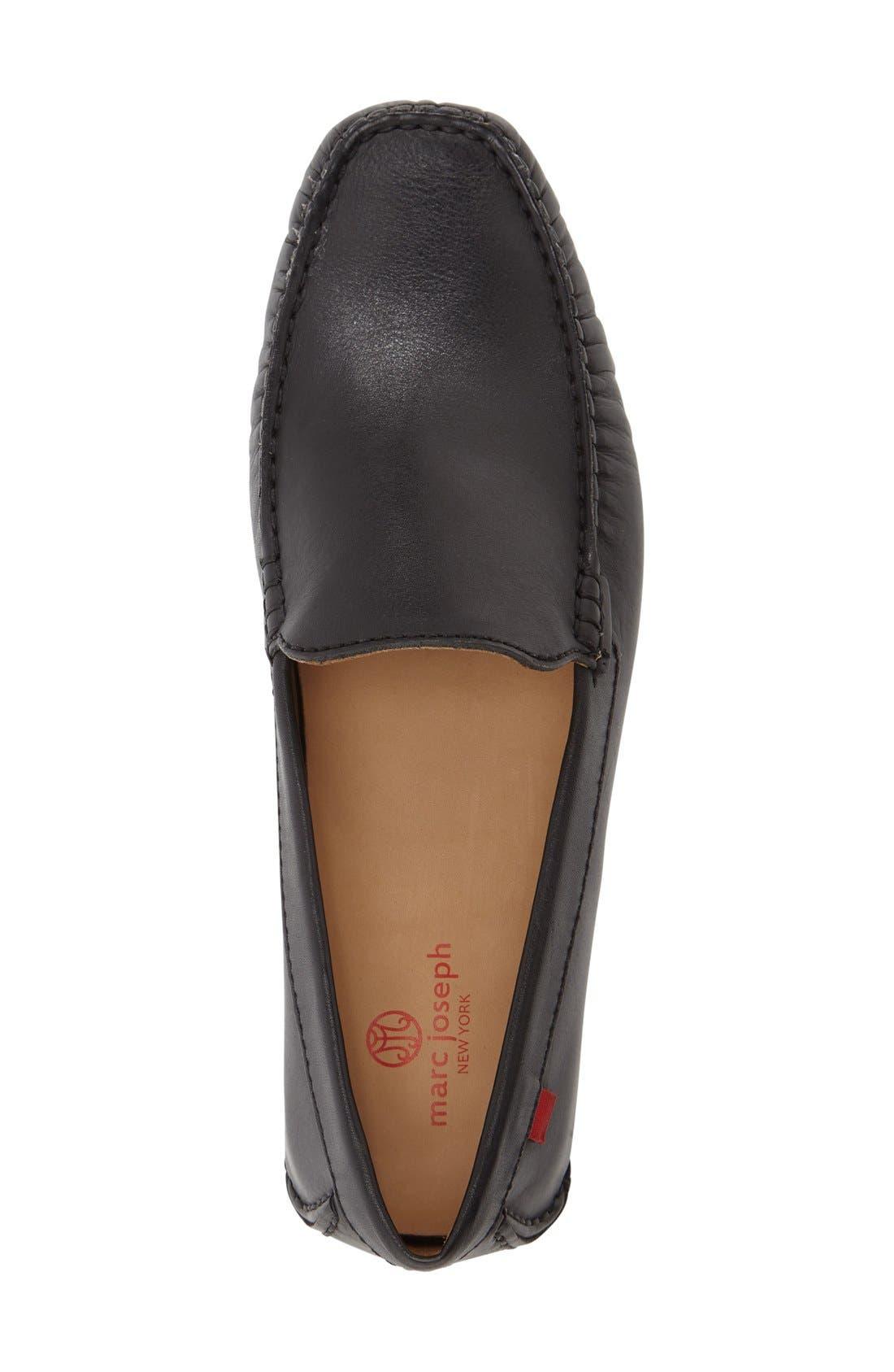 Venetian Driving Loafer,                             Alternate thumbnail 3, color,                             Black