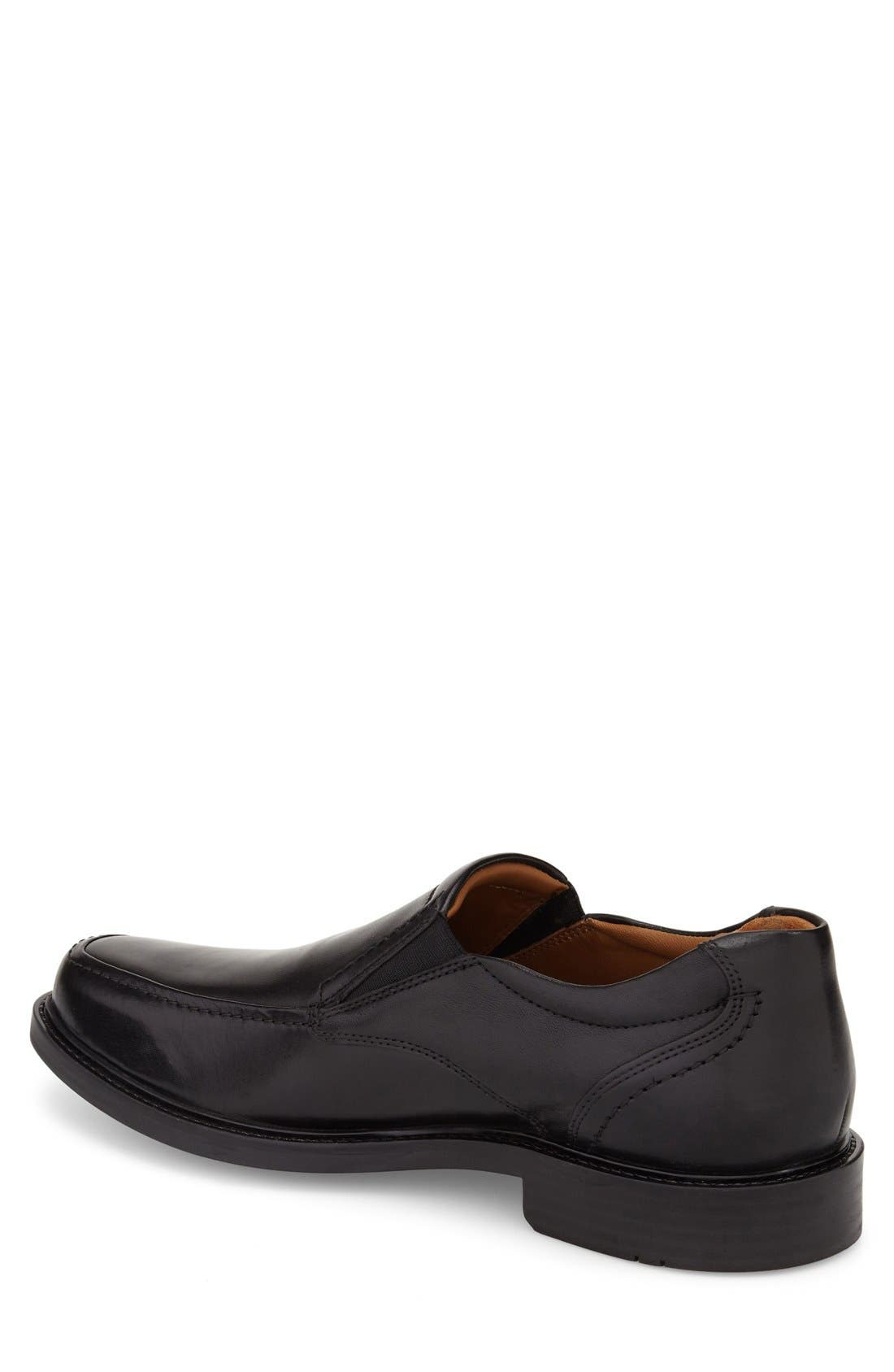 Tabor Venetian Loafer,                             Alternate thumbnail 2, color,                             Black Leather