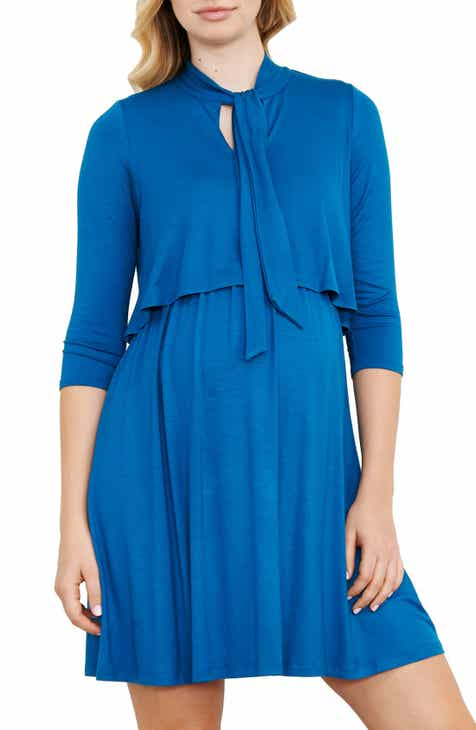 Maternal America Tie Neck Maternity Dress by MATERNAL AMERICA