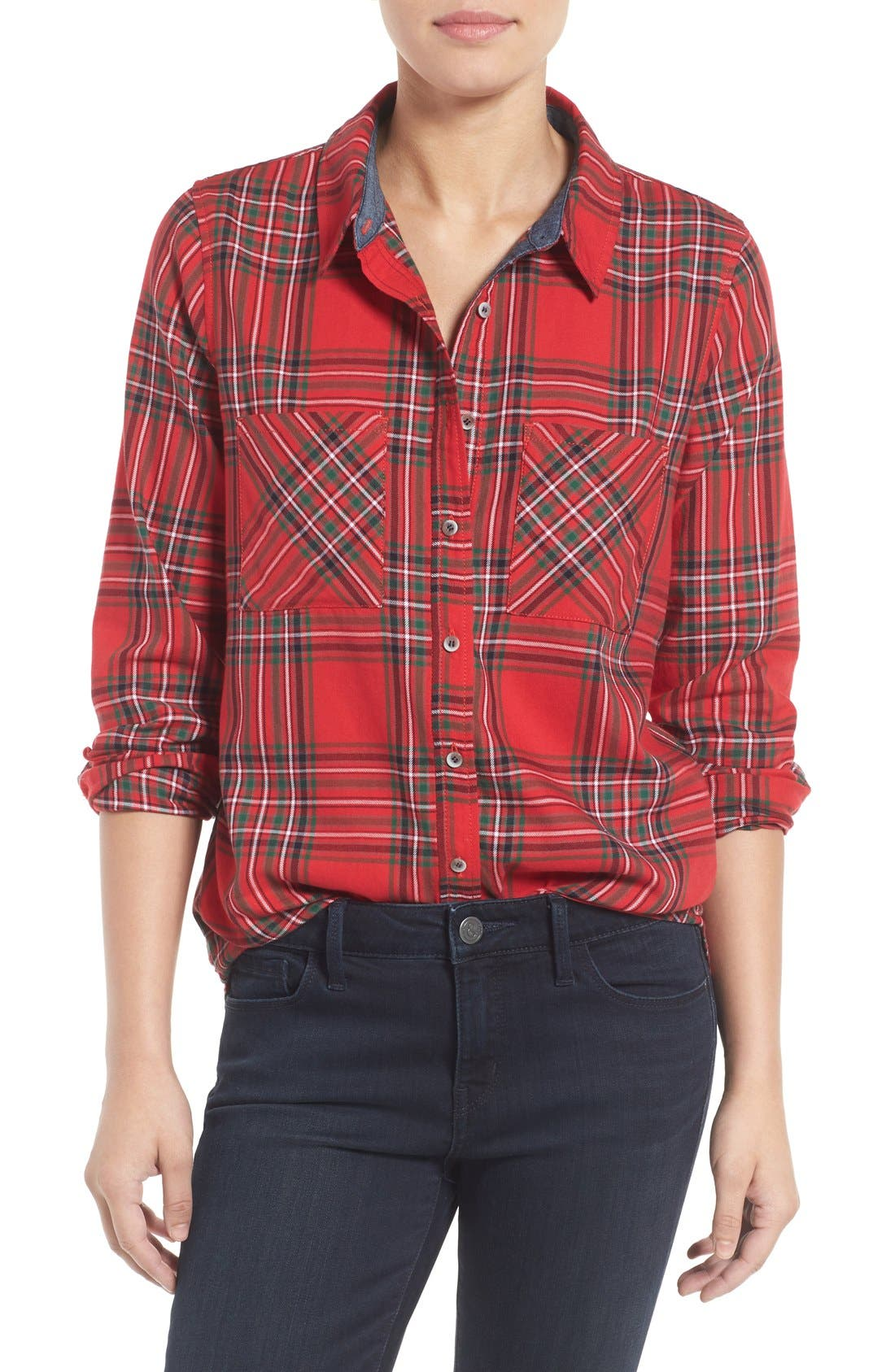 Main Image - Treasure&Bond Plaid Shirt