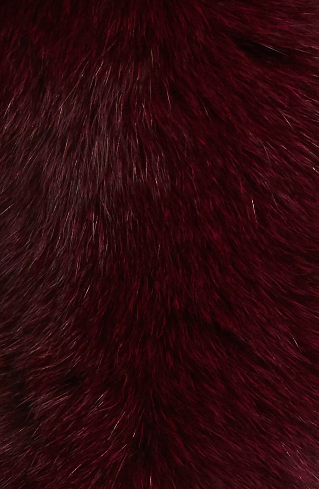 Genuine Fox Fur Collar,                             Alternate thumbnail 3, color,                             Plum