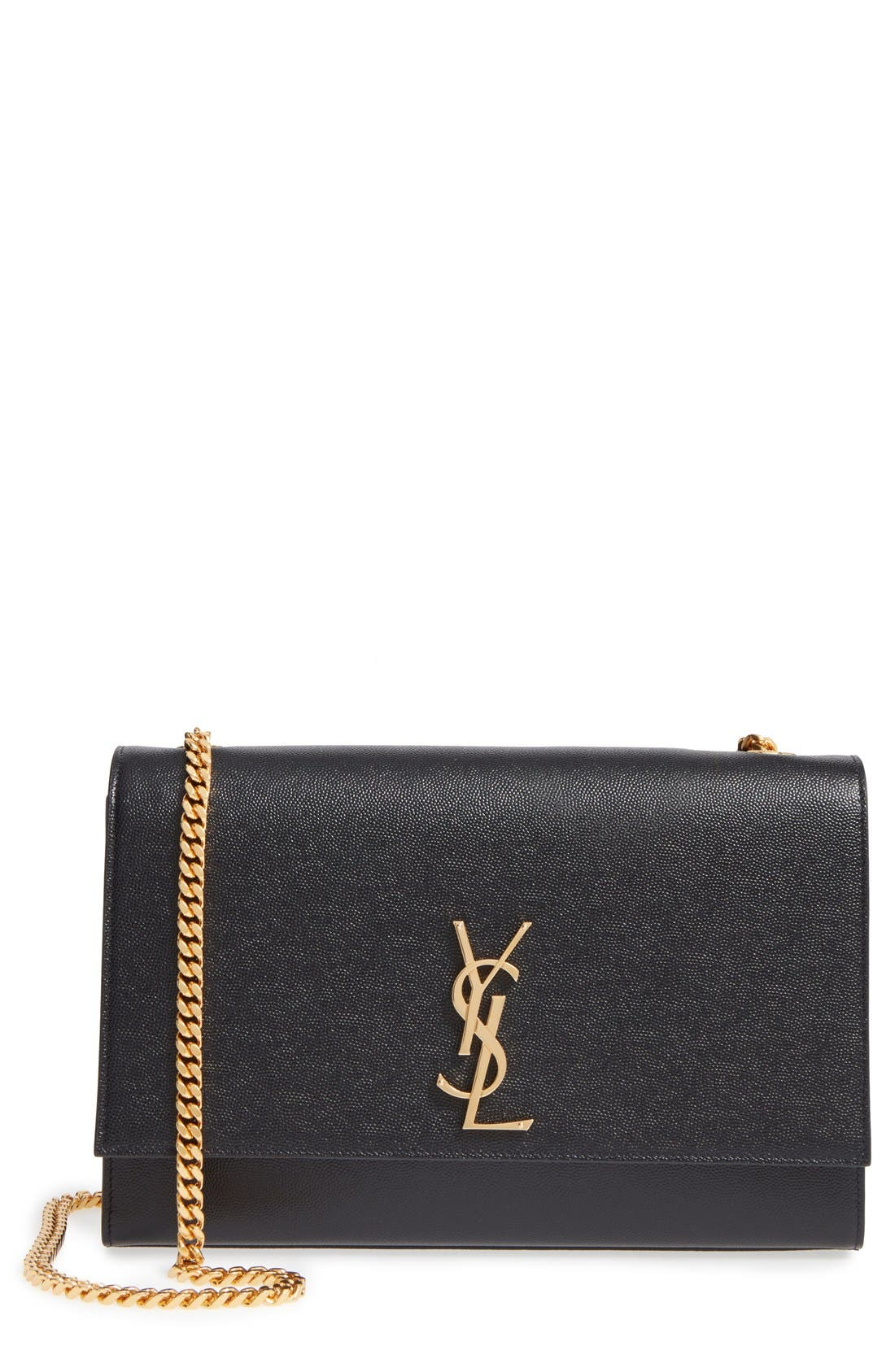 SAINT LAURENT Large Kate Monogram Leather Shoulder Bag