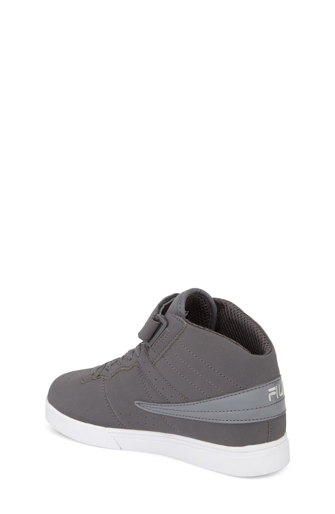 Vulc 13 High Top Sneaker,                             Alternate thumbnail 2, color,                             Pewter/ White