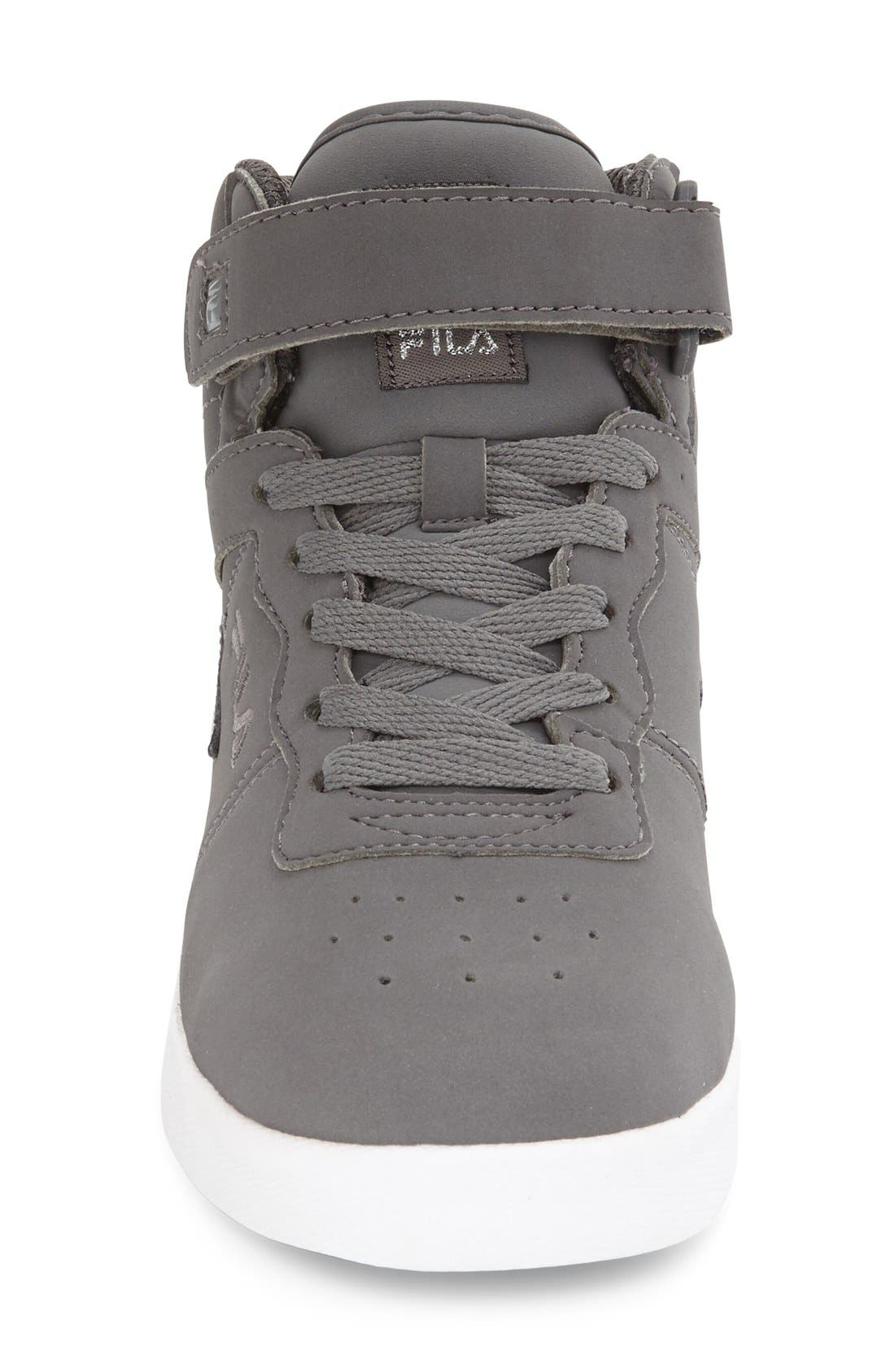 Vulc 13 High Top Sneaker,                             Alternate thumbnail 3, color,                             Pewter/ White