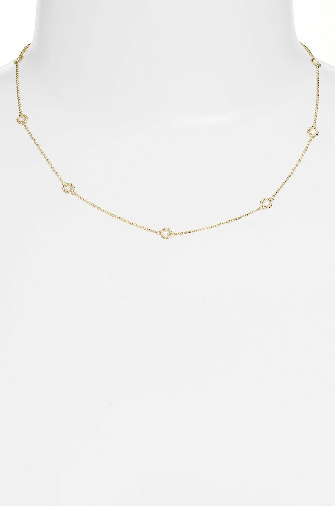 Main Image - Roberto Coin Diamond Station Necklace