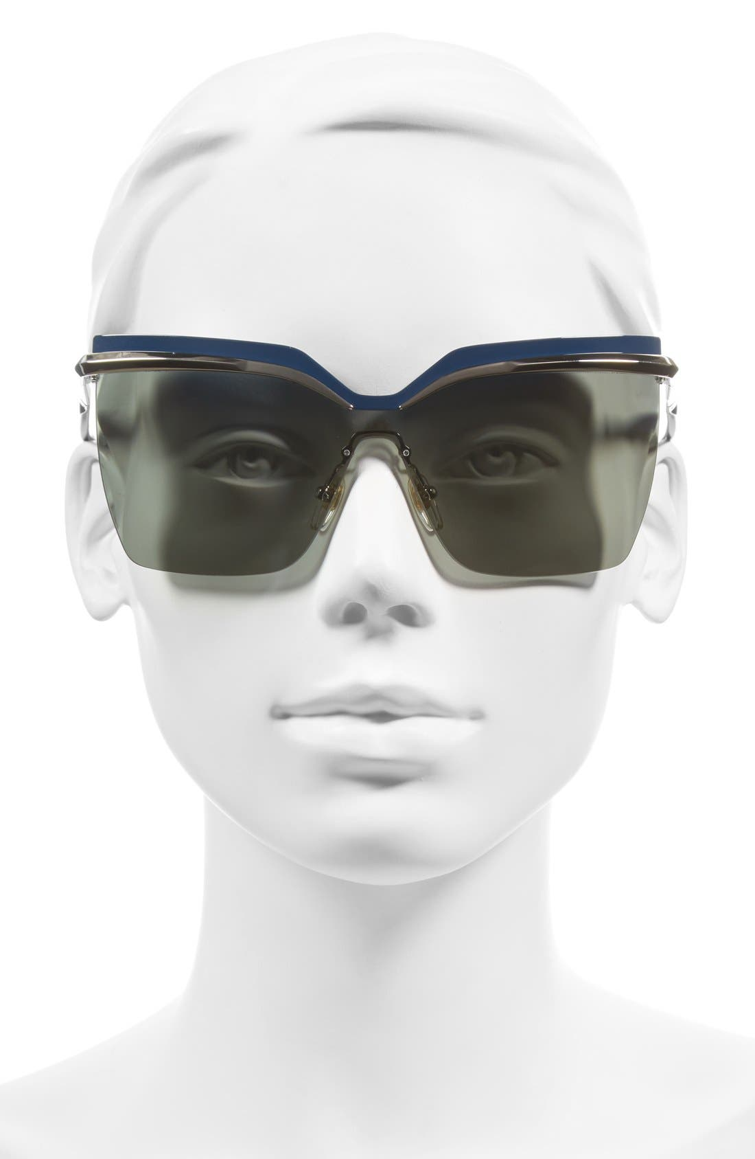 63mm Oversized Sunglasses,                             Alternate thumbnail 2, color,                             Silver