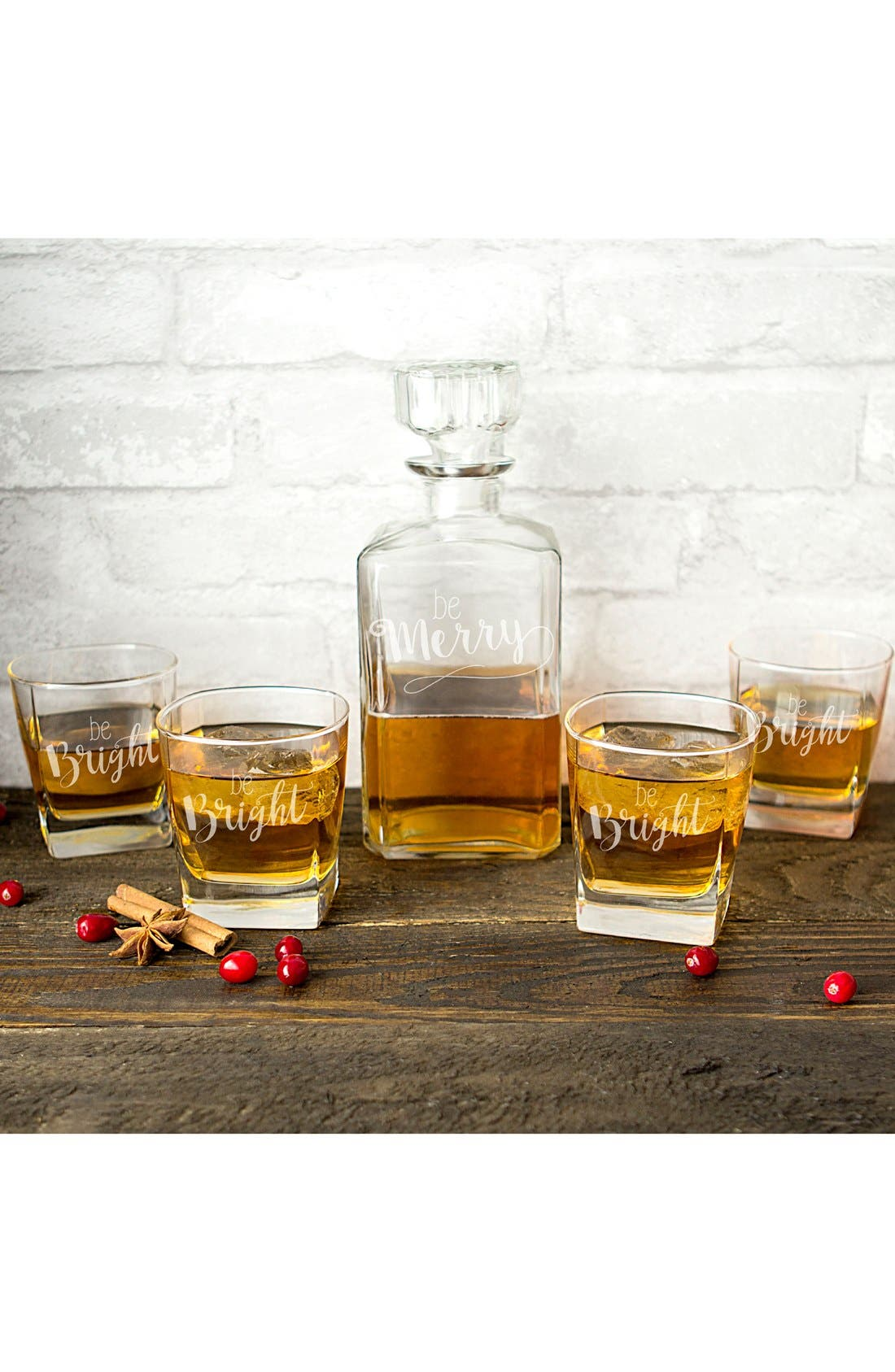 Cathy's Concepts Be Merry 5-Piece Decanter Set