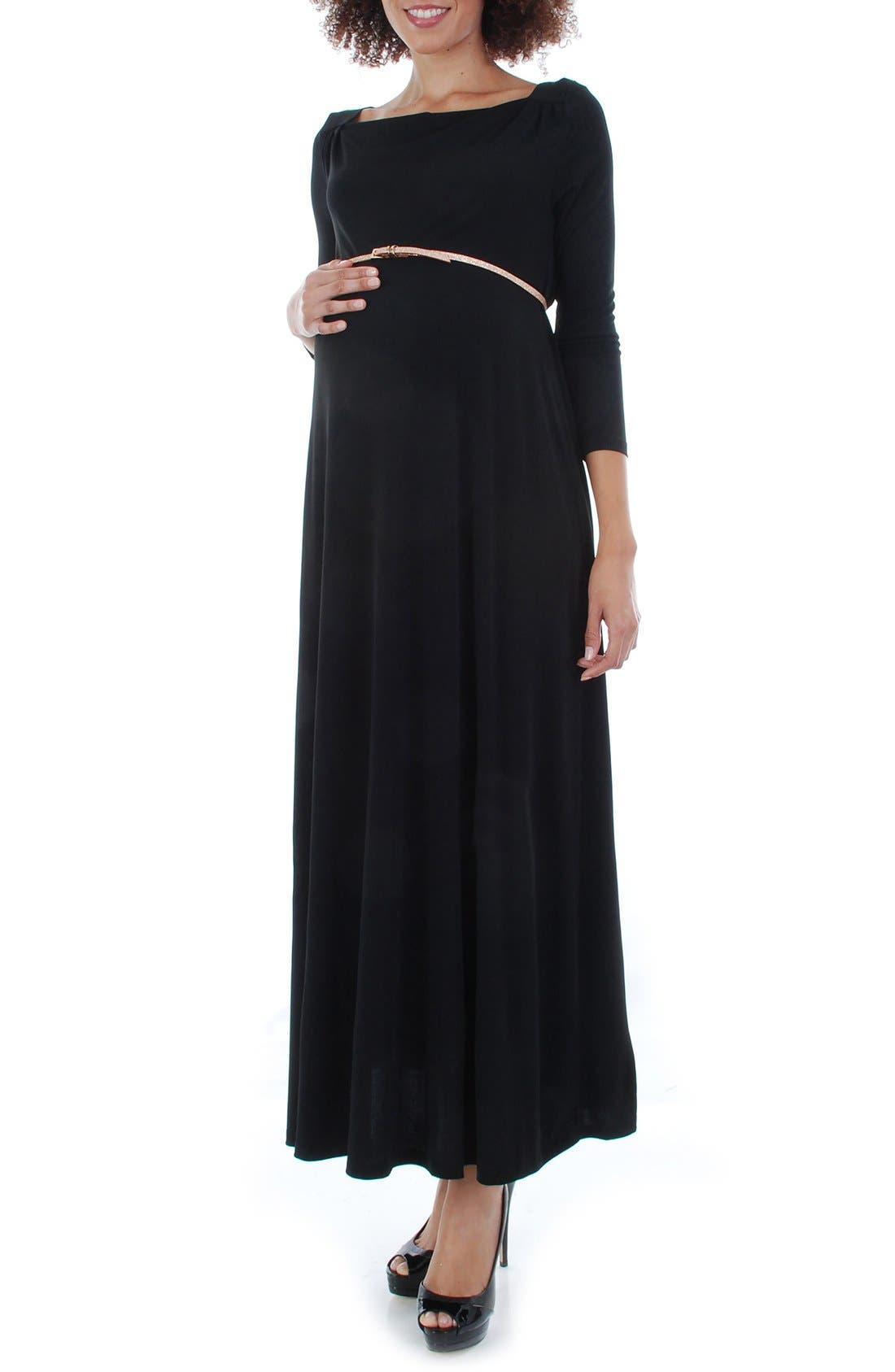 Everly Grey Zelena Maternity Maxi Dress