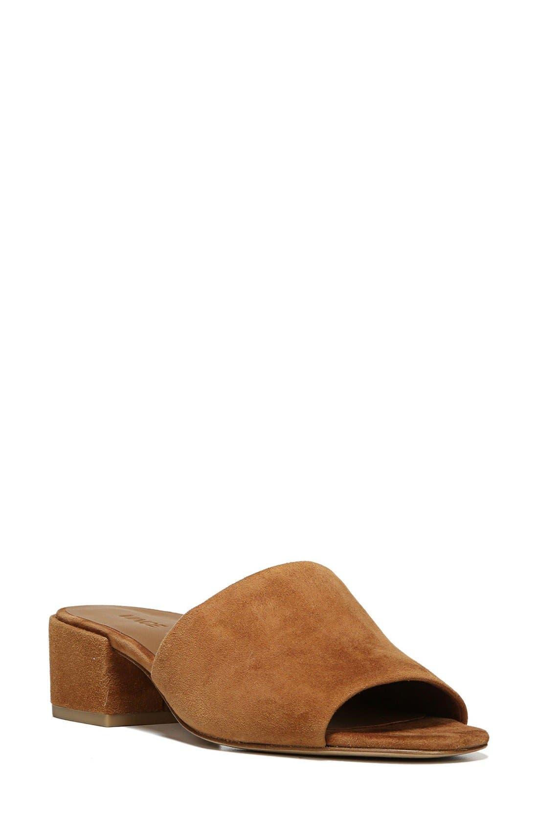 Rachelle Slide Sandal,                         Main,                         color, Cedar