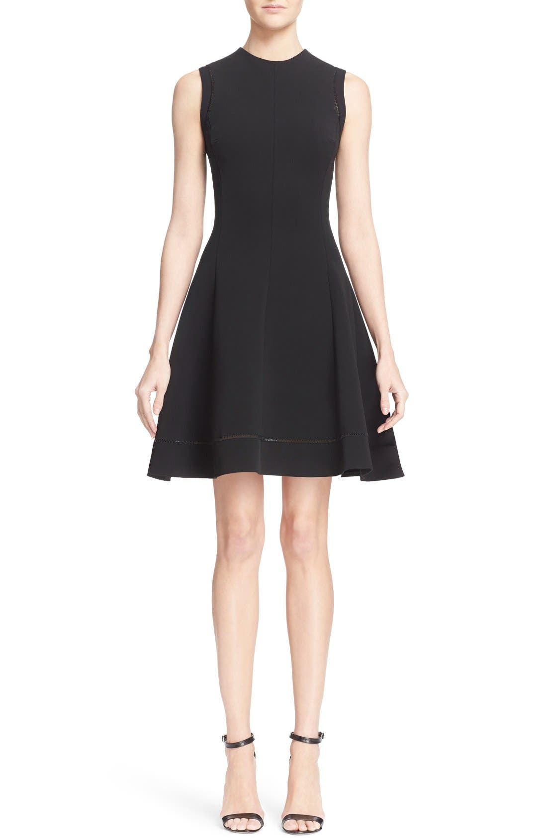Alternate Image 1 Selected - Victoria Beckham Rib Knit Fit & Flare Dress