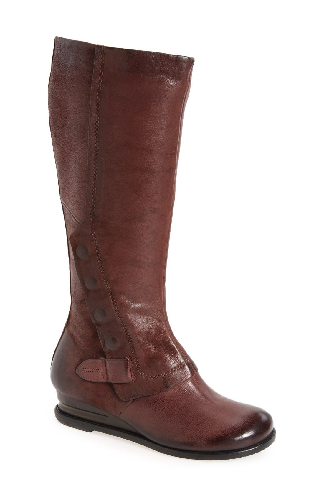 Bennett Boot,                             Main thumbnail 1, color,                             Wine Leather