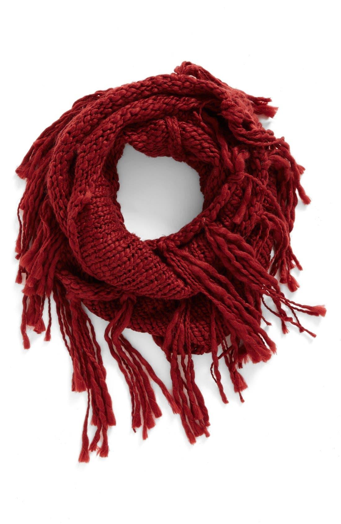 Main Image - BP. Chunky Knit Fringe Scarf