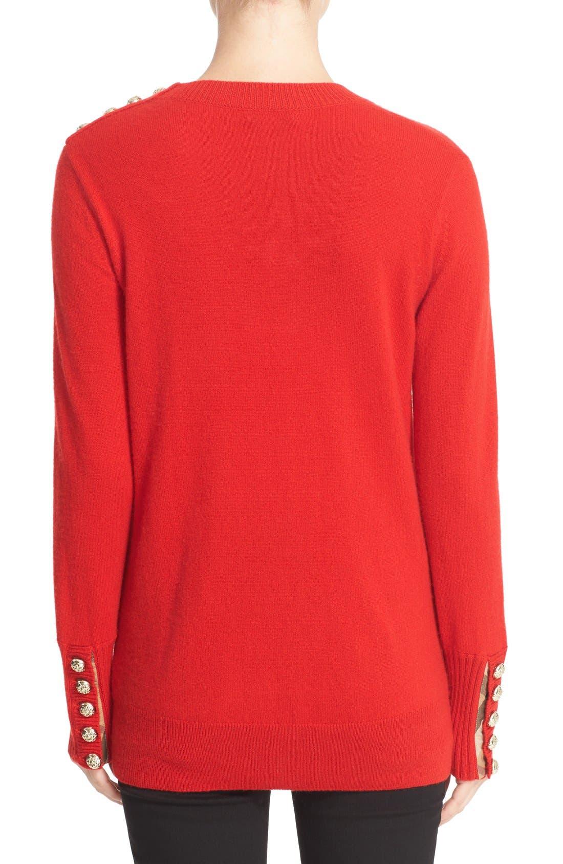 Alternate Image 2  - Burberry Meesebrook Cashmere Sweater
