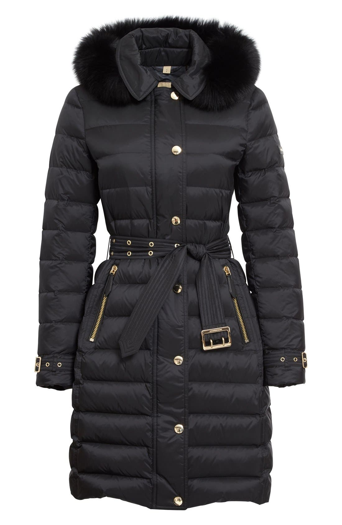 Alternate Image 4  - Burberry Ashmoore Down Puffer with Genuine Fox Fur Trim