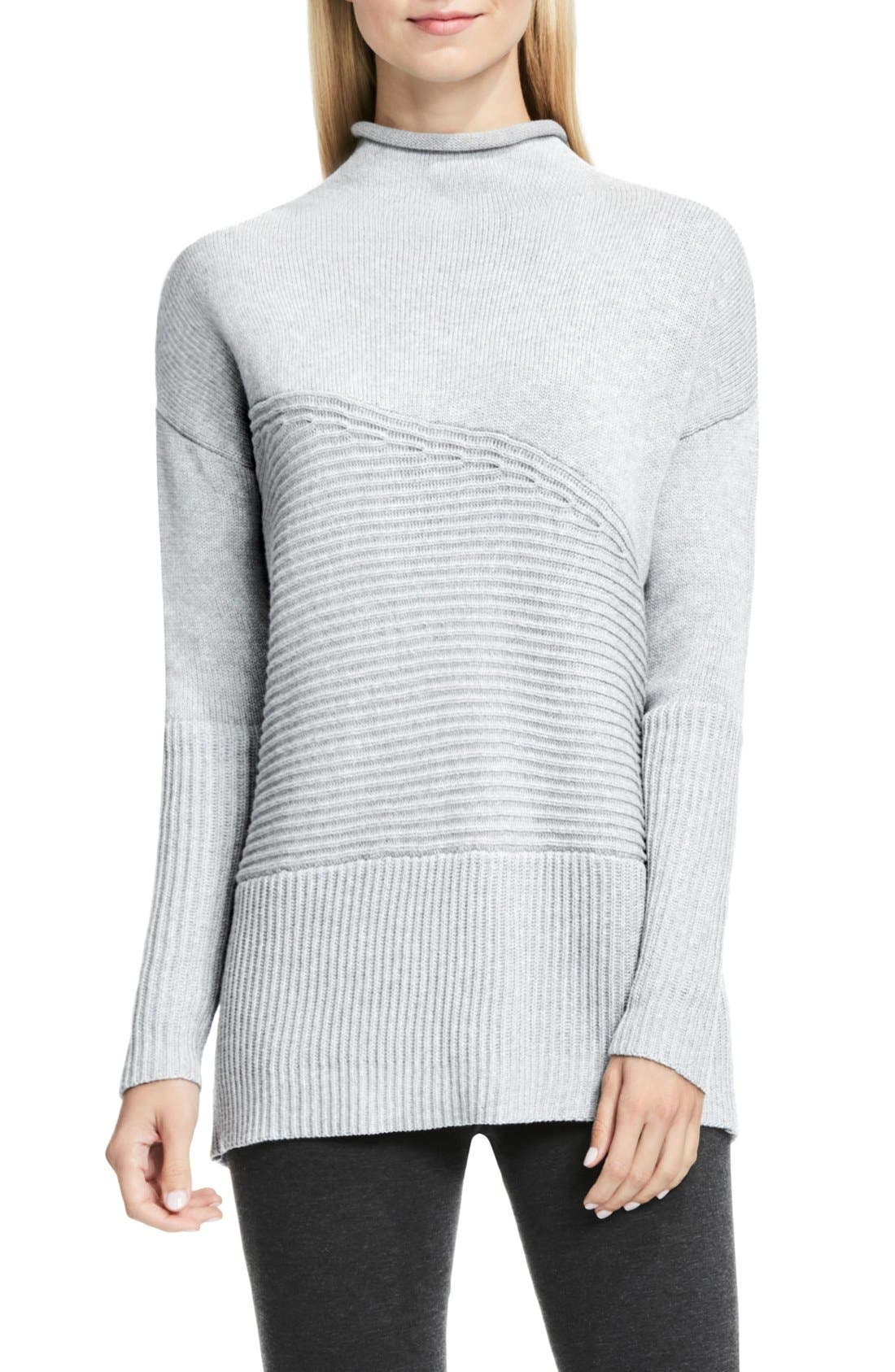 Alternate Image 1 Selected - Vince Camuto Rib Knit Turtleneck Sweater (Regular & Petite)