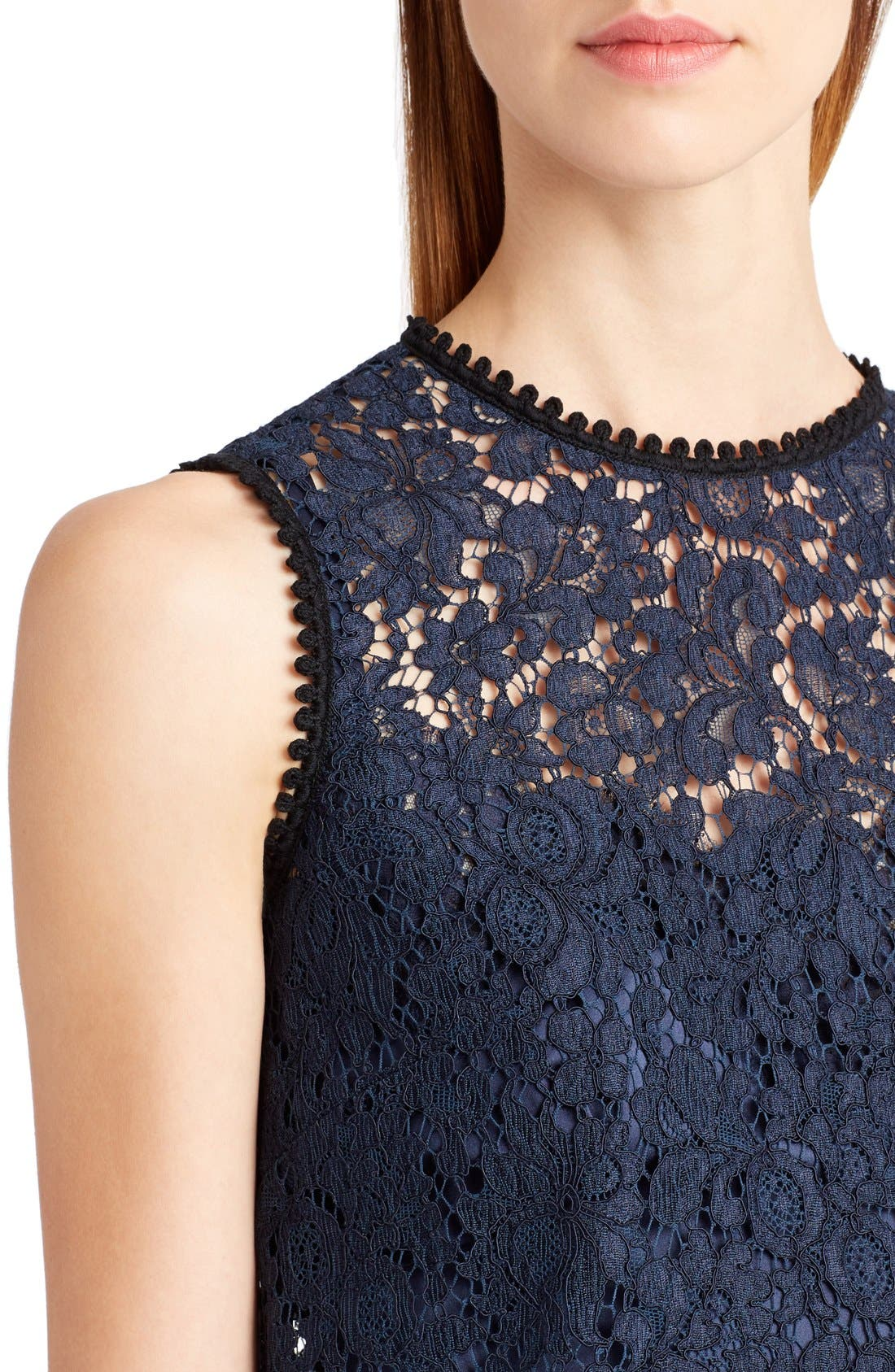 Lace Top,                             Alternate thumbnail 5, color,                             Dark Navy