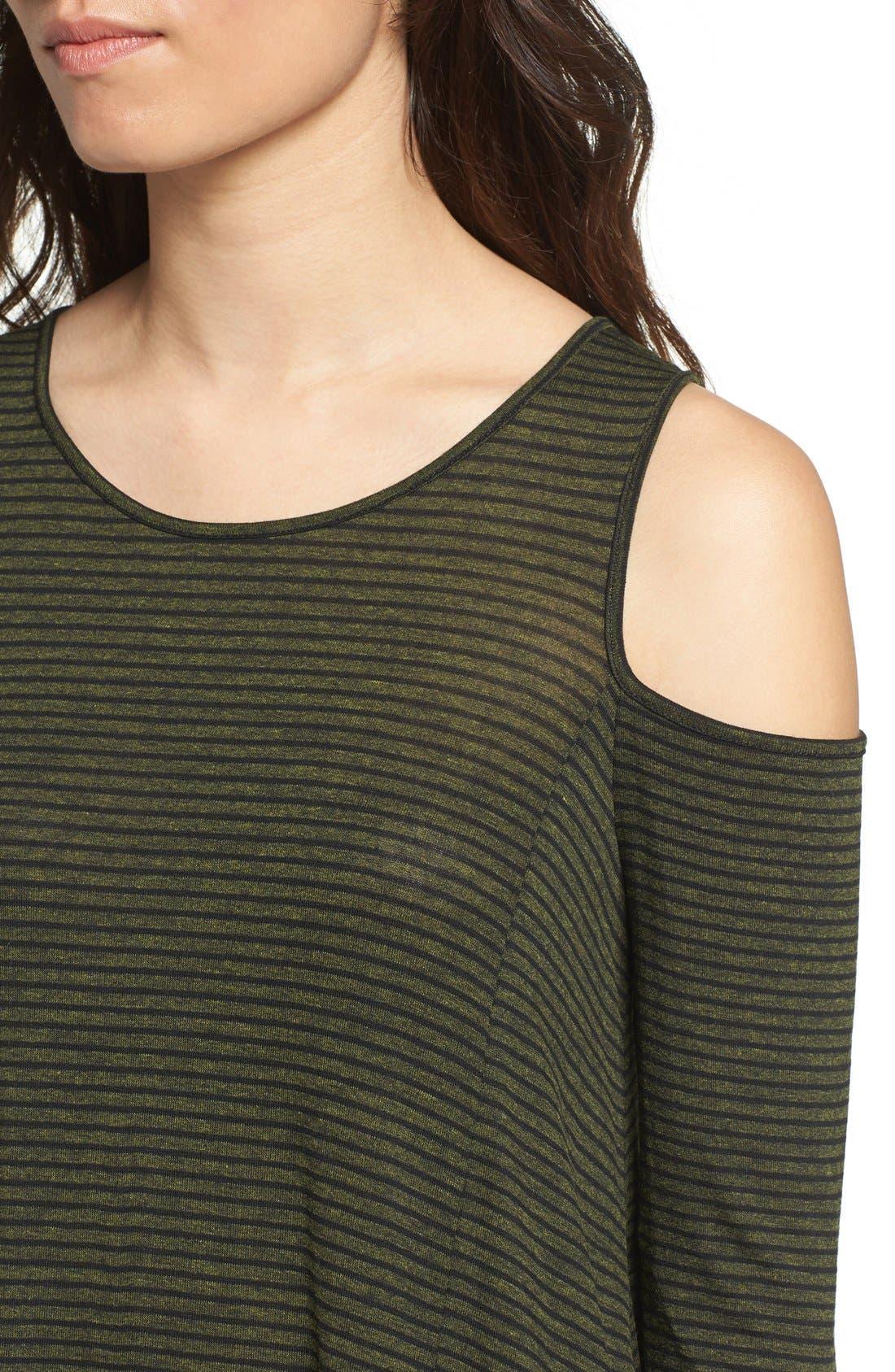 Alternate Image 3  - Lush Stripe Cold Shoulder Top