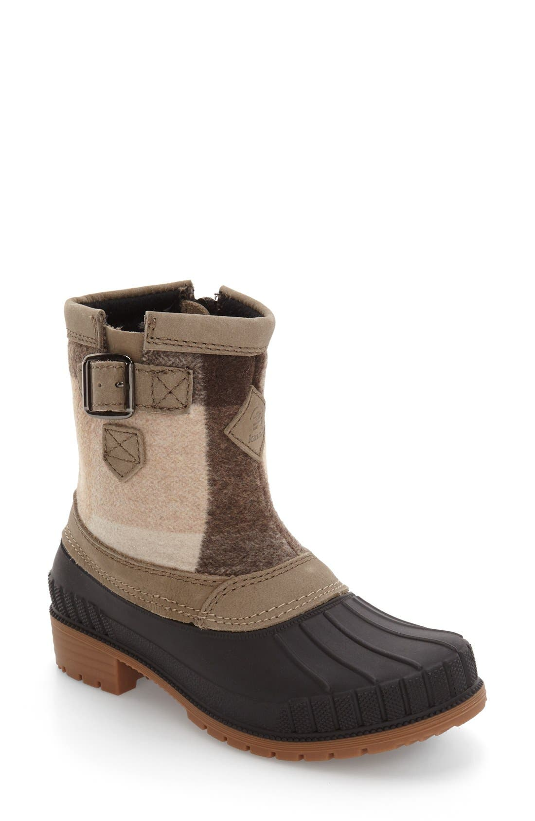 Avelle Waterproof Boot,                             Main thumbnail 1, color,                             Taupe Leather