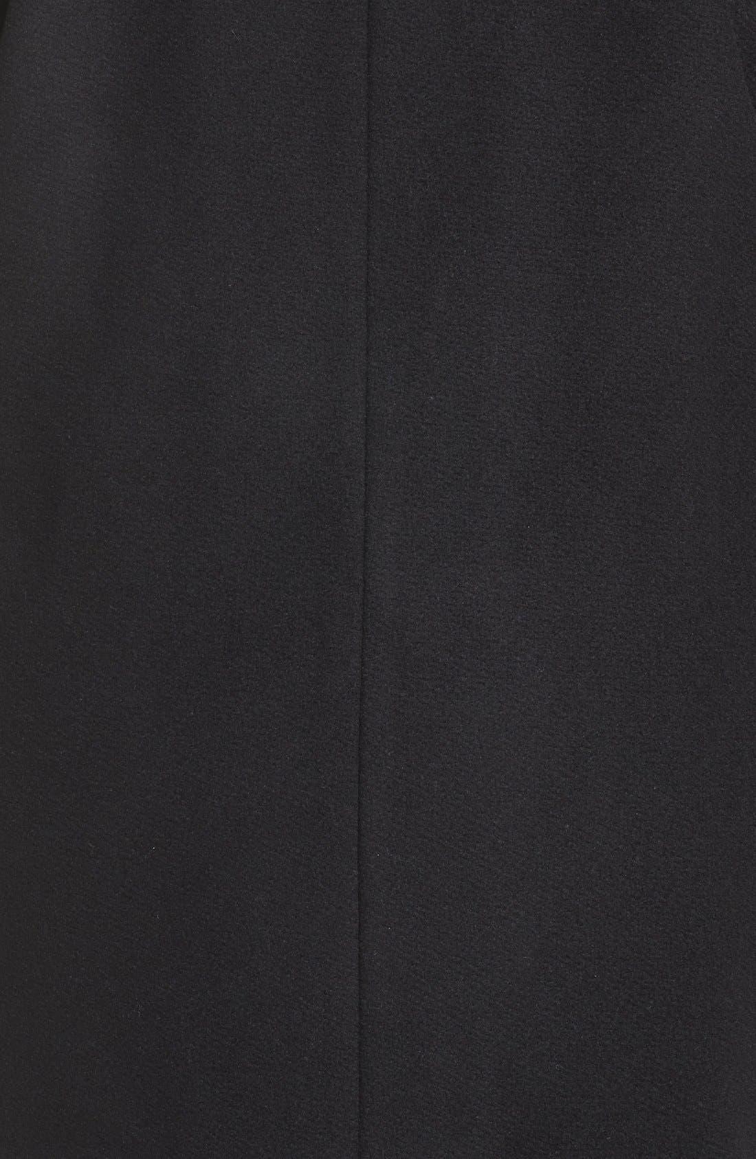 Alternate Image 5  - Calvin Klein Lux Basketweave Flyaway Coat (Plus Size)