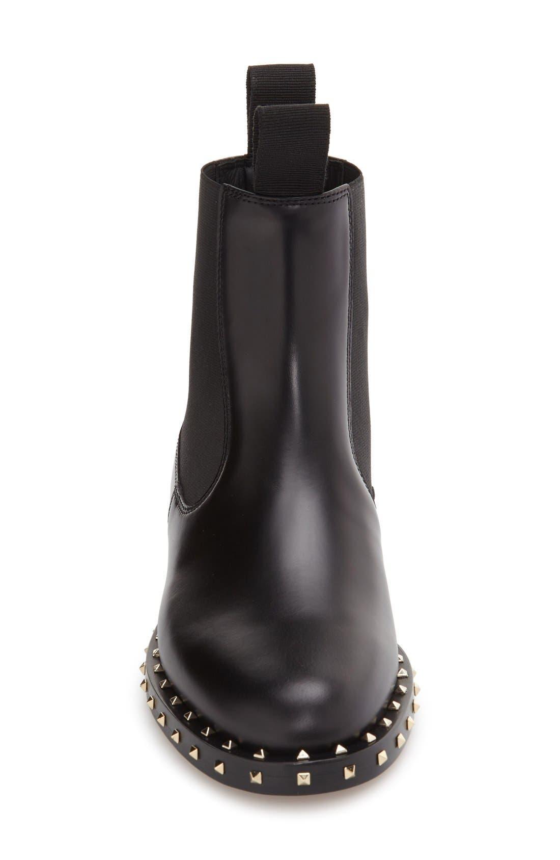 Alternate Image 3  - VALENTINO GARAVANI Rockstud Chelsea Boot (Women)