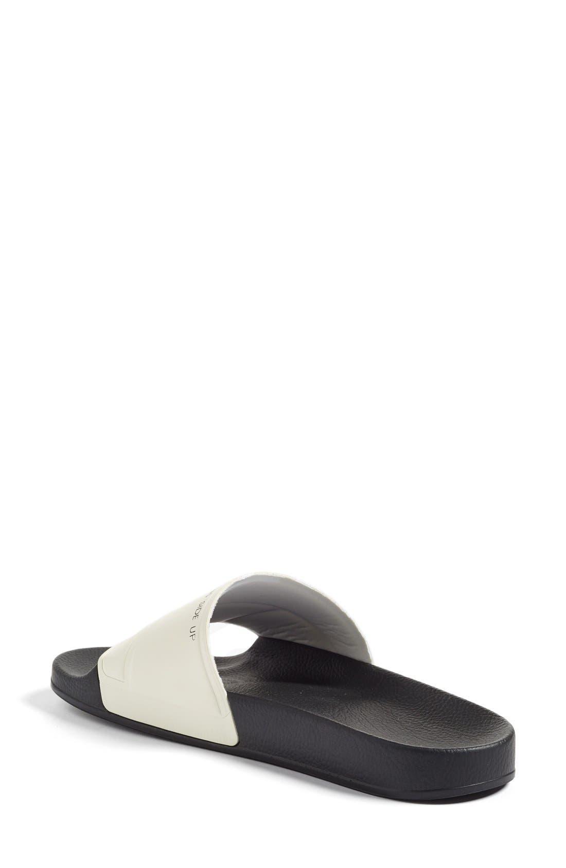 Bunny Adilette Slide Sandal,                             Alternate thumbnail 2, color,                             Cream White