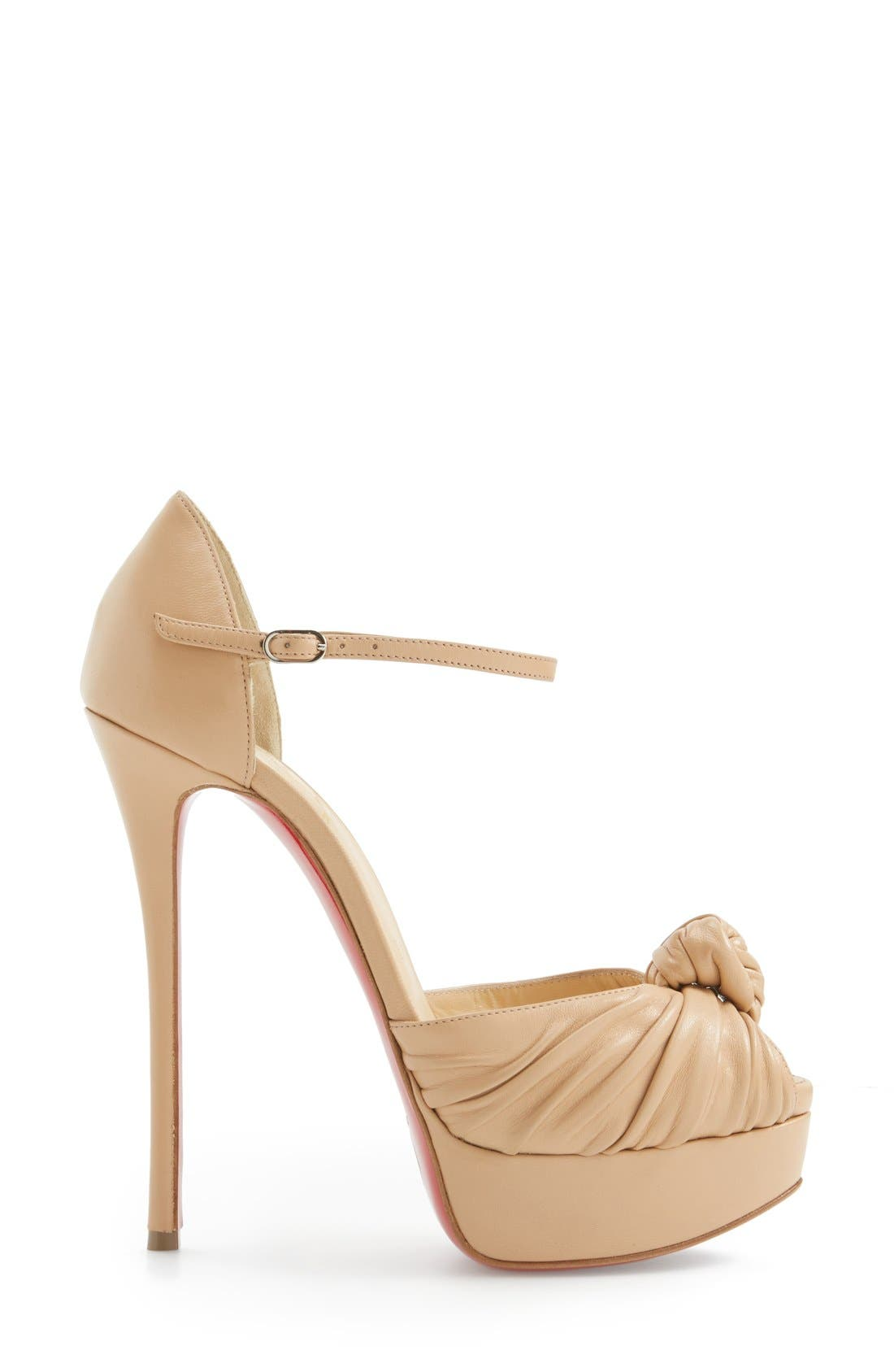 Marchavekel Knot Sandal,                             Alternate thumbnail 4, color,                             Nude Leather