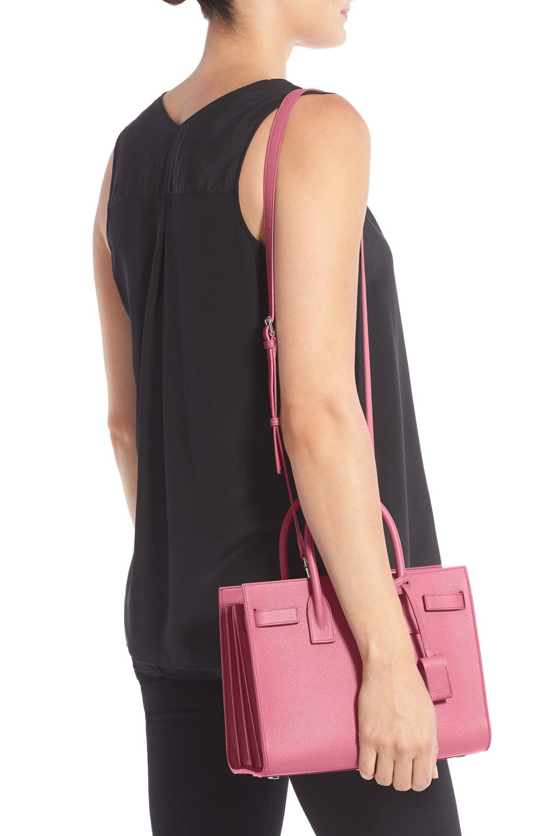 'Baby Sac de Jour' Bonded Leather Tote,                             Alternate thumbnail 2, color,                             Pink