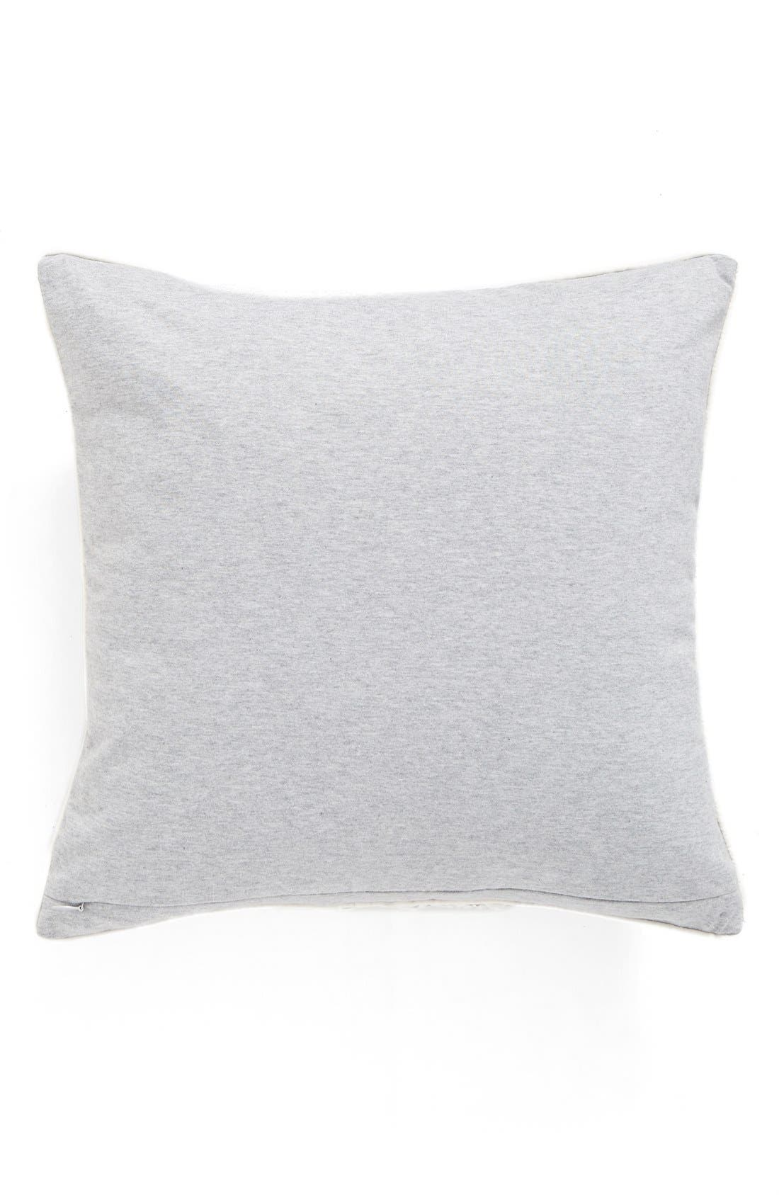 Snowflake Jersey Accent Pillow,                             Alternate thumbnail 2, color,                             Grey Heather
