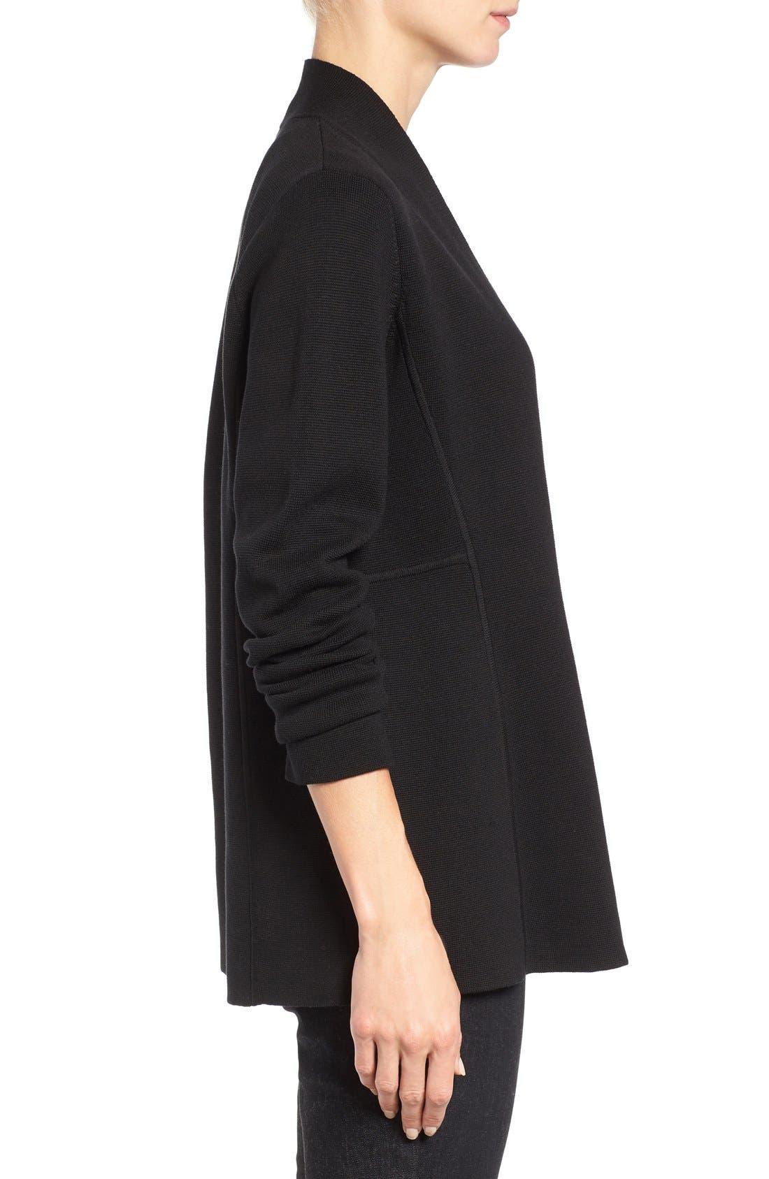 Alternate Image 3  - Eileen Fisher Silk & Organic Cotton Cardigan (Nordstrom Exclusive)