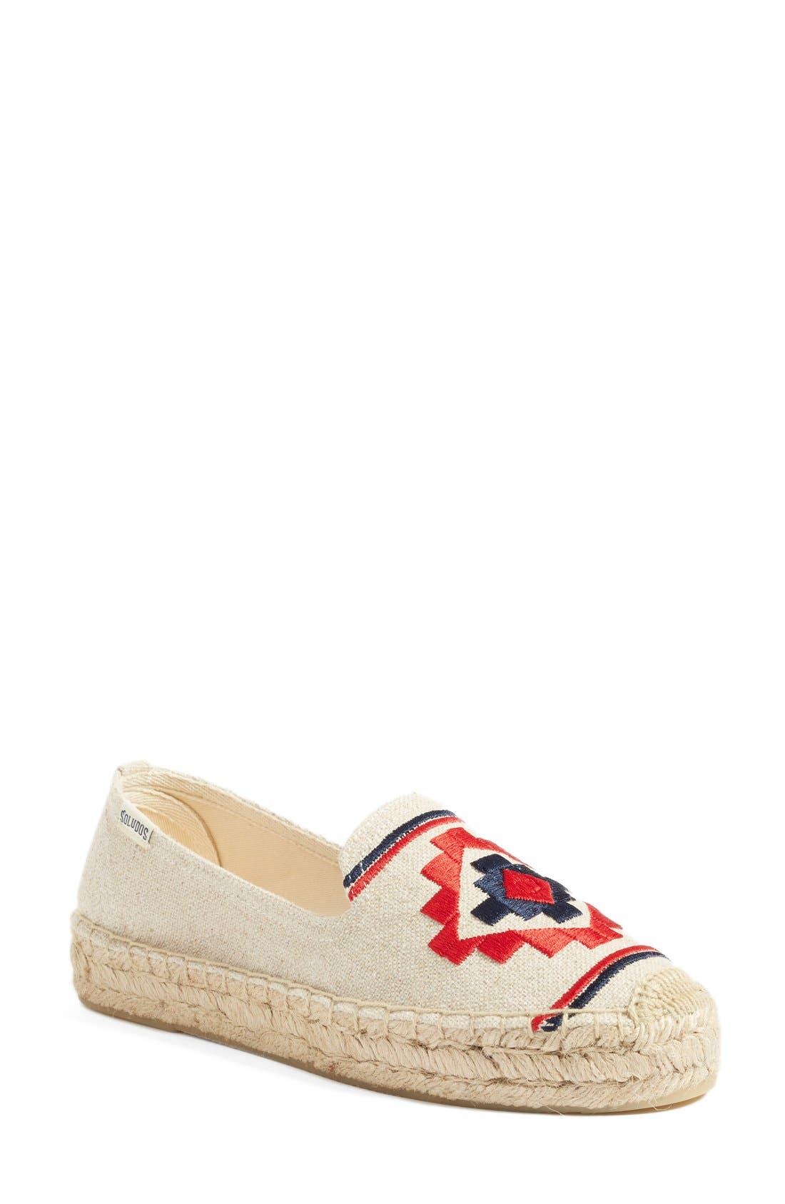 Embroidered Espadrille,                         Main,                         color, Sand
